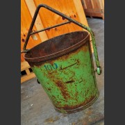 GREEN PAINTED FRENCH INDUSTRIAL BUCKET