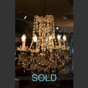 FRENCH 8 ARM BRONZE CHANDELIER