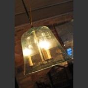 FRENCH GLASS CLOCHE LIGHT