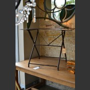 FRENCH TOLIX METAL FOLDING TABLE