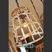 FRENCH METAL BONBONNE BASKET LIGHT