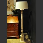 GENT' FRENCH PAINTED GREY SPOT STANDARD LAMP