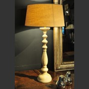 'MONIQUE' FRENCH PAINTED TIMBER LAMP