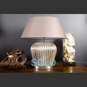 'CASTLE' CIRCULAR RIBBED ZINC LAMP