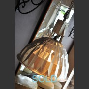 PAIR OF POLISHED ALUMINIUM INDUSTRIAL LIGHTS
