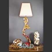 'BRUGES GM' SPANISH SCROLL LEAF LAMP