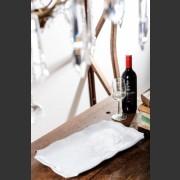 ITALIAN VIETRI CERAMIC RECTANGULAR WHITE PLATTER